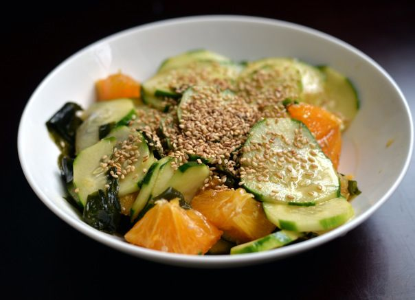 Orange Wakame Cucumber Salad + Organic Cook's Bible giveaway