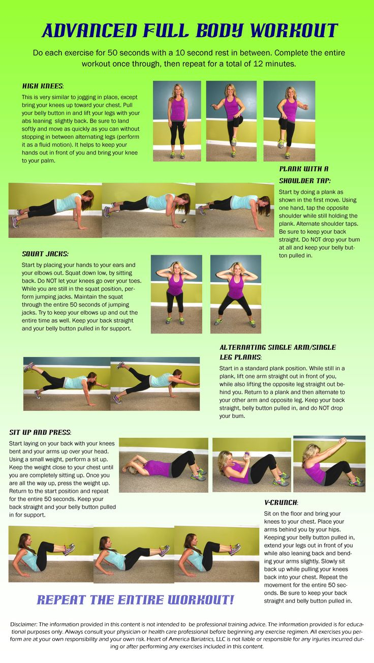 Here is an advanced Full Body Workout with minimal weights