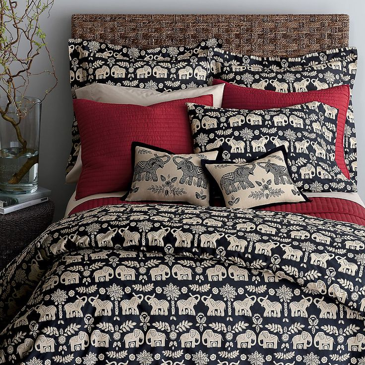 I Love Elephants! Caravan Percale Duvet Cover/Comforter Cover and Sham | The Company Store