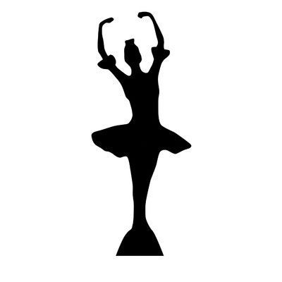 Advanced Graphics Ballerina Silhouette Cardboard Stand-Up