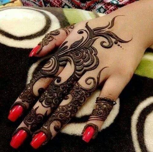 modern #henna #design #arabic