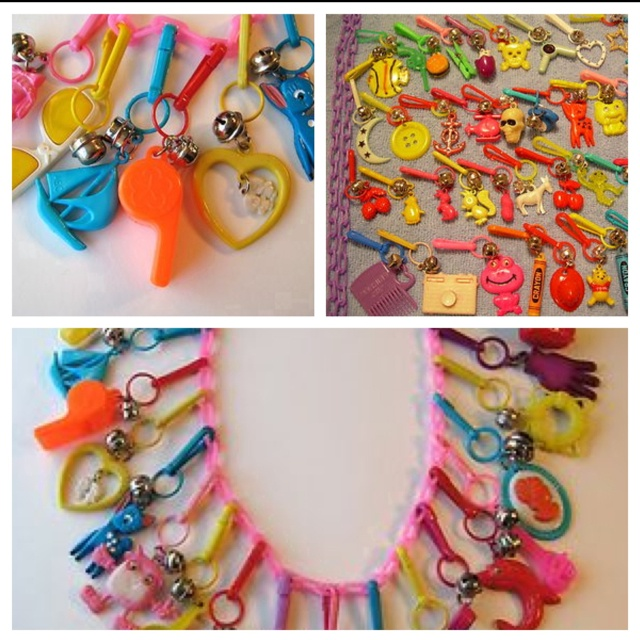 You were definitely a kid in the 80's if you remember charm necklaces. Wish I still had mine.