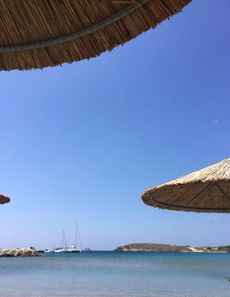 Relaxing on the island of Andros