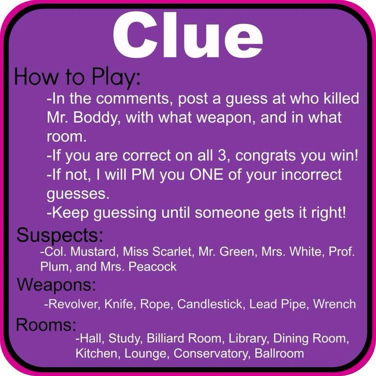 Do you love playing clue? Host a jamberry party and win free stuff while playing with your friends on facebook!  Http://megansmith5.jamberrynails.net