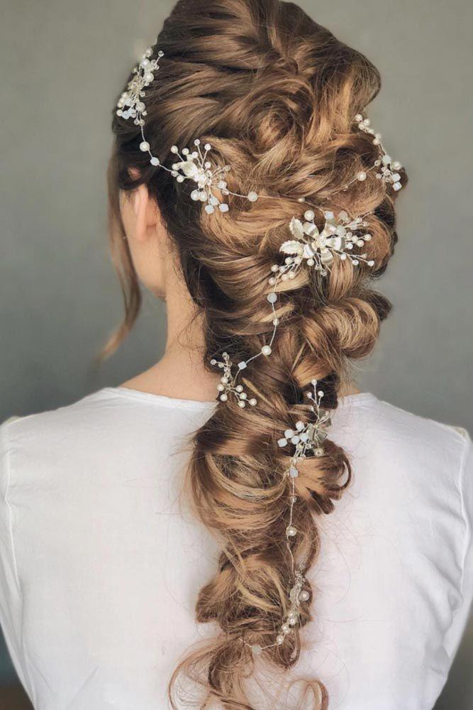 Braided Wedding Hair With Flowers And Crystal Headpieces To Look Like A Fairy Princess #braids #bridalaccessory #weddingbraids ❤️ Not everyone kno...