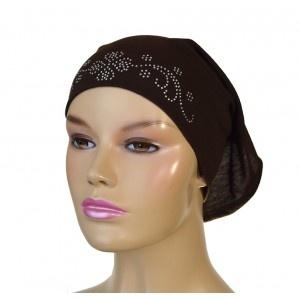 Dark brown cotton tube under scarf from www.hijabnow.com