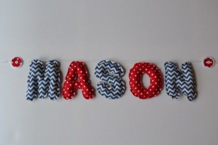 Fabric Name Bunting red white blue - Decor - Nursery & Bedroom
