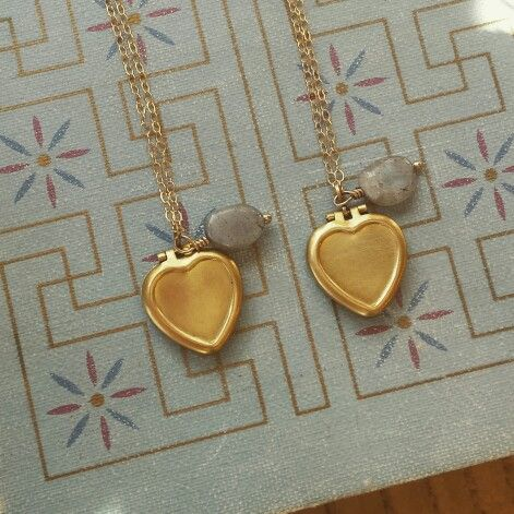 Eclectic orchid heart lockets
