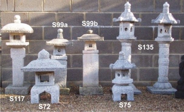 Japanese granite lanterns