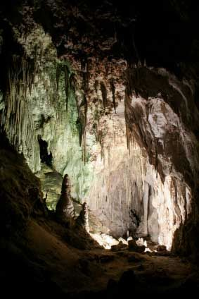The most common type of caves and caverns open to the public and also the longest and deepest caves in the world are limestone caves.