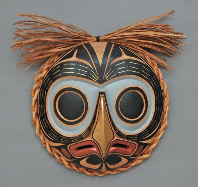 Northwest coast Native American owl mask