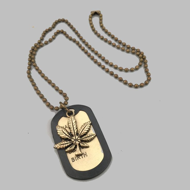Fashion Vintage Bronze Marijuana Leaf Hip Hop Necklace //Price: $30.45 & FREE Shipping //     #cannalovers