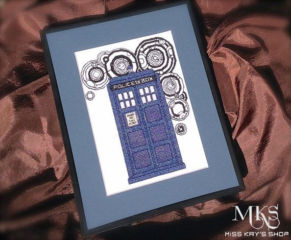 TARDIS - Doctor Who Cross Stitch Pattern I'd either like the pattern to make myself or maybe some enterprising family member would like to make this for me with the words Tardis Sweet Tardis on the side or bottom?