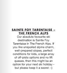 Thanks for the feature Molo Magazine! We love Sainte Foy too!