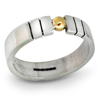 Simple and contemporary handmade silver ring by designer/jeweller Nikki Galloway