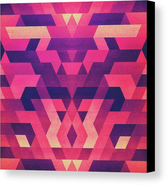 Abstract Symertric Geometric Triangle Texture Pattern Design In Diabolic Magnet Future Red Canvas Print / Canvas Art by Philipp Rietz  ||  Abstract Symertric Geometric Triangle Texture Pattern Design In Diabolic Magnet Future Red Canvas Print by Philipp Rietz.  All canvas prints are professionally printed, assembled, and shipped within 3…