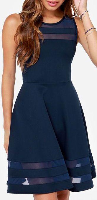 Final Stretch Navy Blue Dress #bridesmaid #wedding #dress