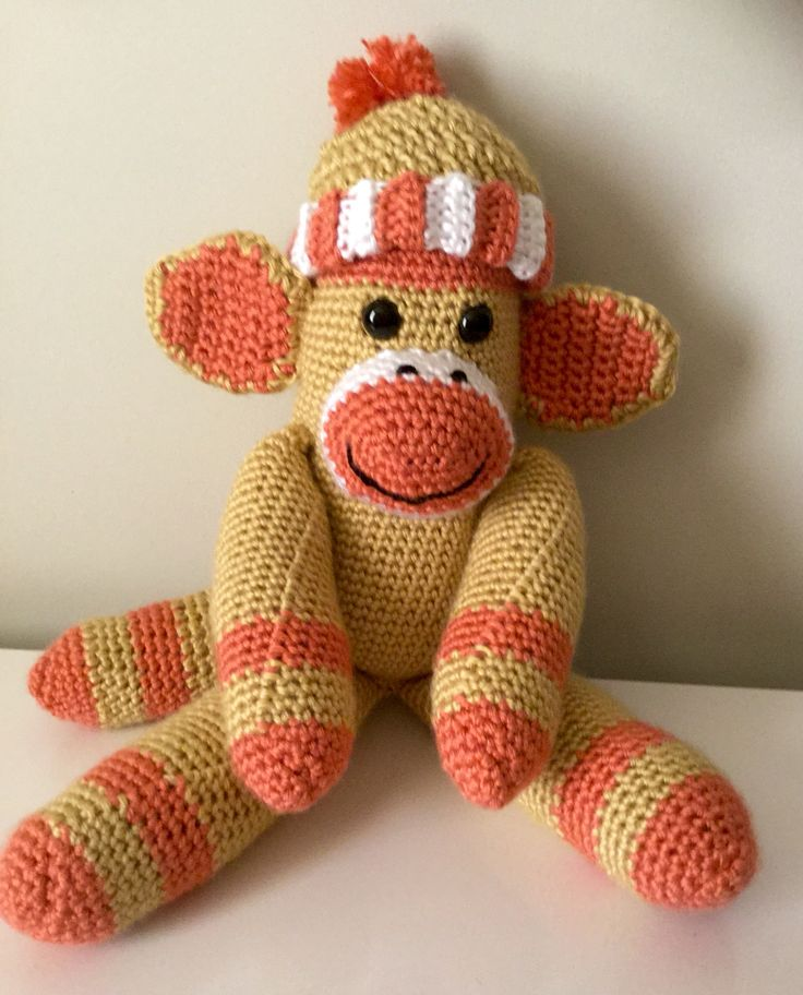 Monkey with beanie, my creations