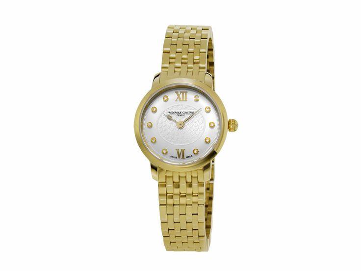 Federique Constant Slimline FC-200WHDS5B Reloj para Dama Color Oro