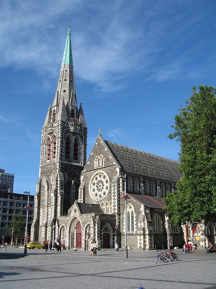 Cathedral of Christchurch - destroyed in the 6.4 earthquake