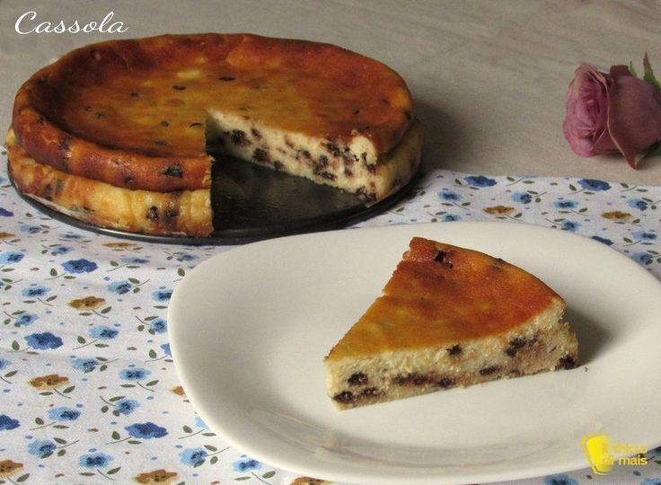 Cassola:+torta+di+ricotta+senza+farina,+ricetta+ebraico-romana