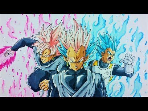 Drawing GATUKA BLACK  Goku Black  Vegeta FUSION  Dragonball