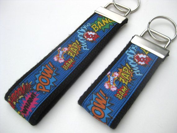 Mini or Wristlet Keychain - great Teacher Gift!  https://www.etsy.com/ca/listing/243026489/key-fob-wristlet-keychain-wrist-key