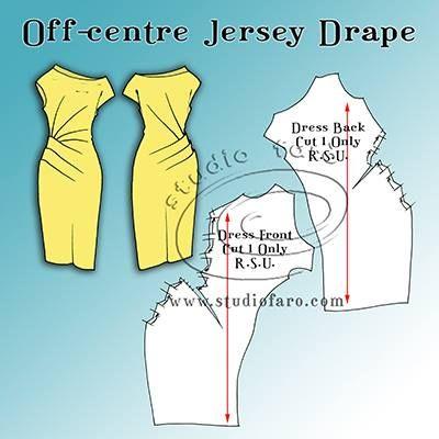 Off-centre jersey drape.