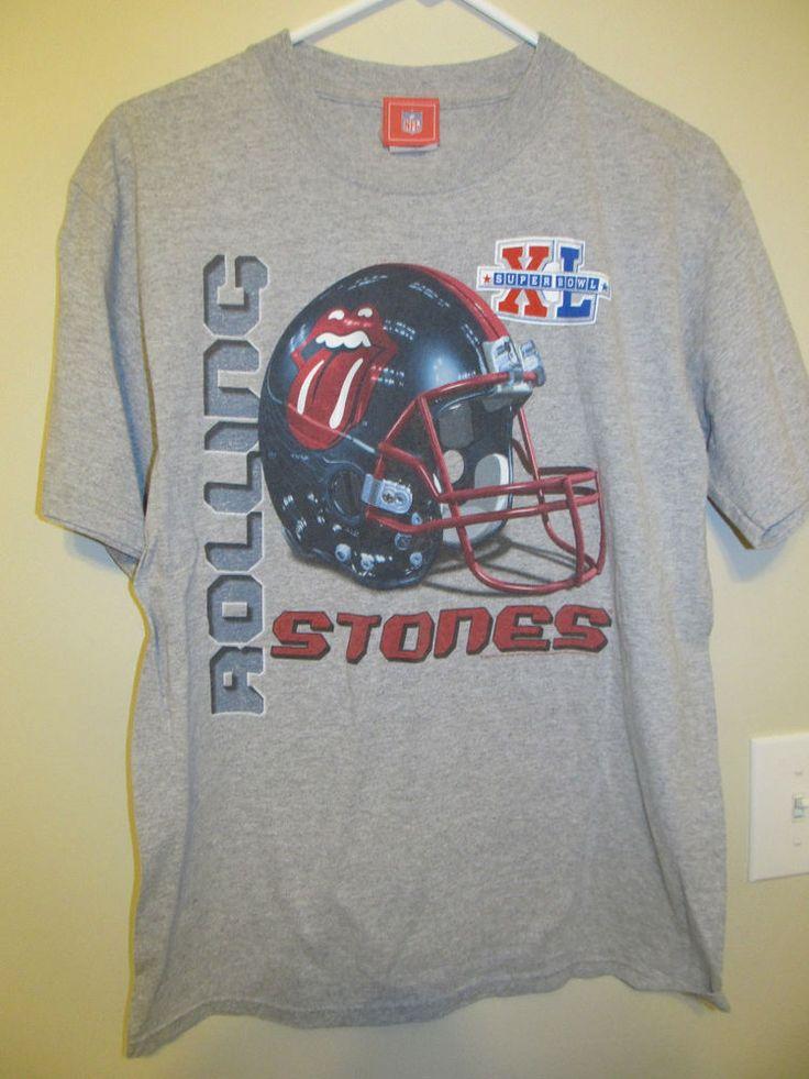 2006 The Rolling Stones Super Bowl XL shirt - Adult Medium | Entertainment Memorabilia, Music Memorabilia, Rock & Pop | eBay!