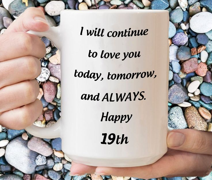 19th Anniversary Gift For Her, 19 Yr Birthday Mug For Girl