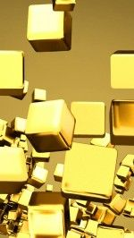 Nice gold cubes wallpaper 6