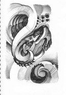 Biomech Tattoo Sketchbook by Kali