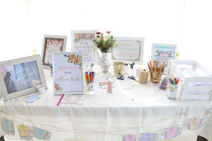 Baby shower games, baby shower tea party, floral party, wild flowers