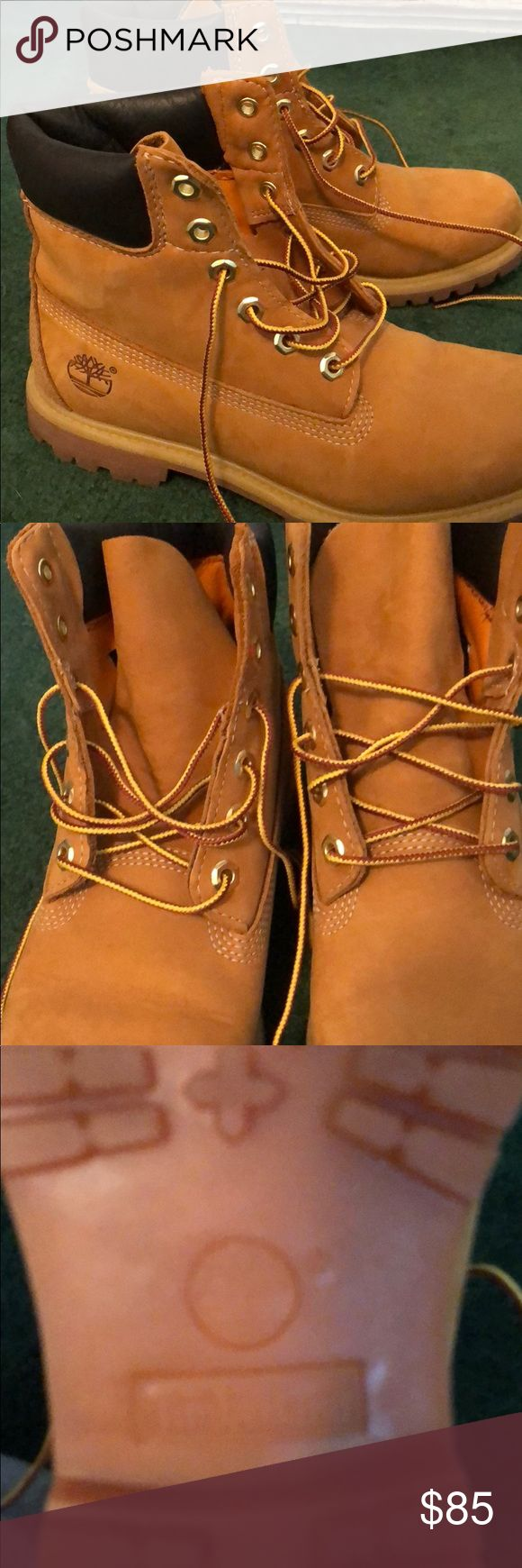 Timberland boots Wheat Timberland boots. Worn twice. Shoes Lace Up Boots