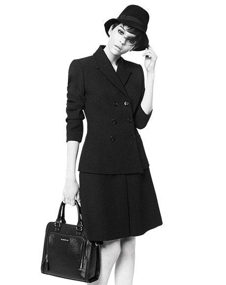 Tailor Made! Get the look: jacket CIURMA, skirt LANCIA, hat SCOUT, bag DUNA.