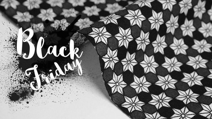 """C'est le """"Black Friday"""", et si nous marquions le coup? Nous avons décider de vous faire plaisir et de vous offrir une réduction bien sympa de 25% sur l'ensemble de la boutique!! De quoi faire le plein de tissus avant la fin d'année pour réaliser vos prochains handmade."""