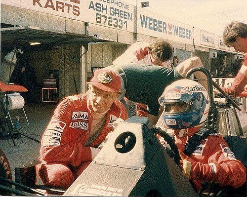 https://flic.kr/p/6mfkq7 | Niki Lauda & Alain Prost | Niki Lauda & Alain Prost  Brands Hatch 28th & 29th August 1985 check www.prostfan.com/ for more photos of Alain