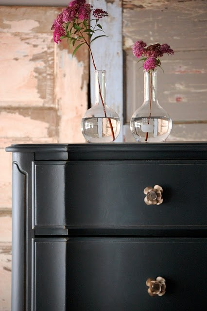 """Idea for repainting-dressers.  .chalk paint is a good primer underneath latex paints, but not so great under itself….or painted on top of latex. Painted over itself is fine but tricky, and over latex it gets """"glumpy"""". Chalk paint works best as a virgin finish first"""