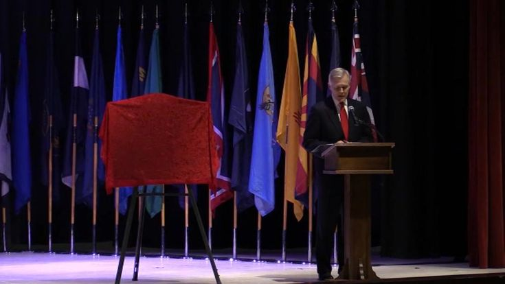 In a ceremony at Marine Corps Air Station Cherry Point, Secretary of the Navy Ray Mabus announced that the Arleigh Burke-class destroyer, DDG 121, is named Frank E. Petersen Jr., in honor of the Marine Corps Lieutenant General who was the first African-American Marine Corps aviator and the first African-American Marine Corps general officer