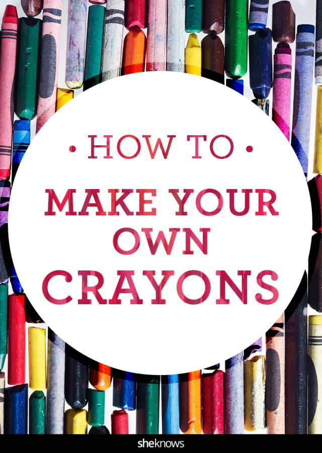 Save those broken crayons and repurpose them like a boss