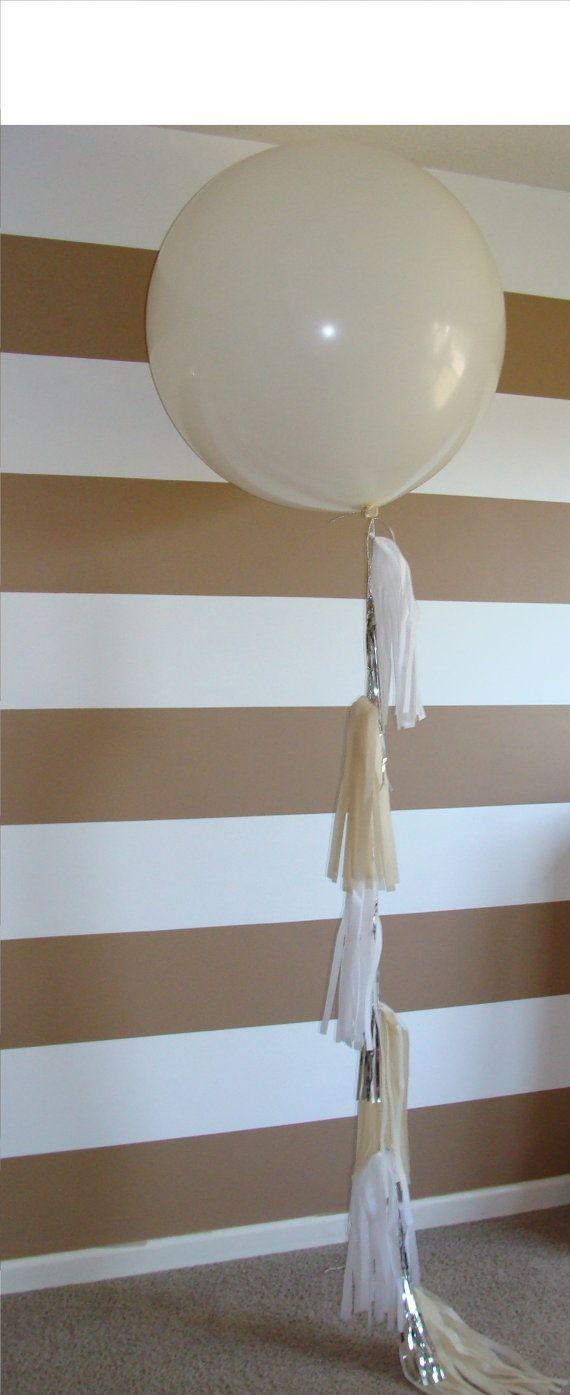 White Custom Creation Big Round Balloon by StephShivesStudio, $30.00