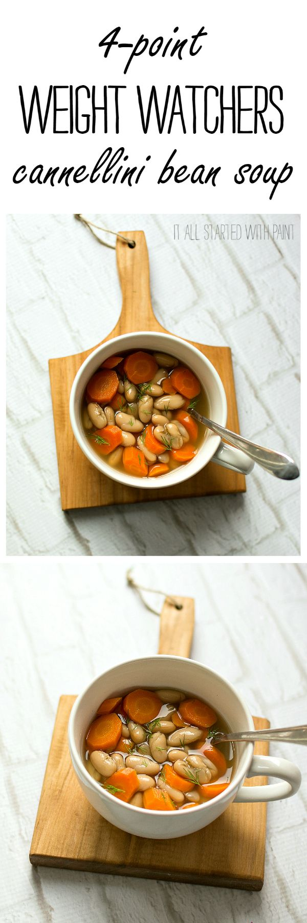 Bean Soup Recipe - Weight Watchers Soup Recipe - Weight Watchers Recipe Ideas - Weight Watcher Lunch Ideas @ It All Started With Paint www.itallstartedwithpaint.com