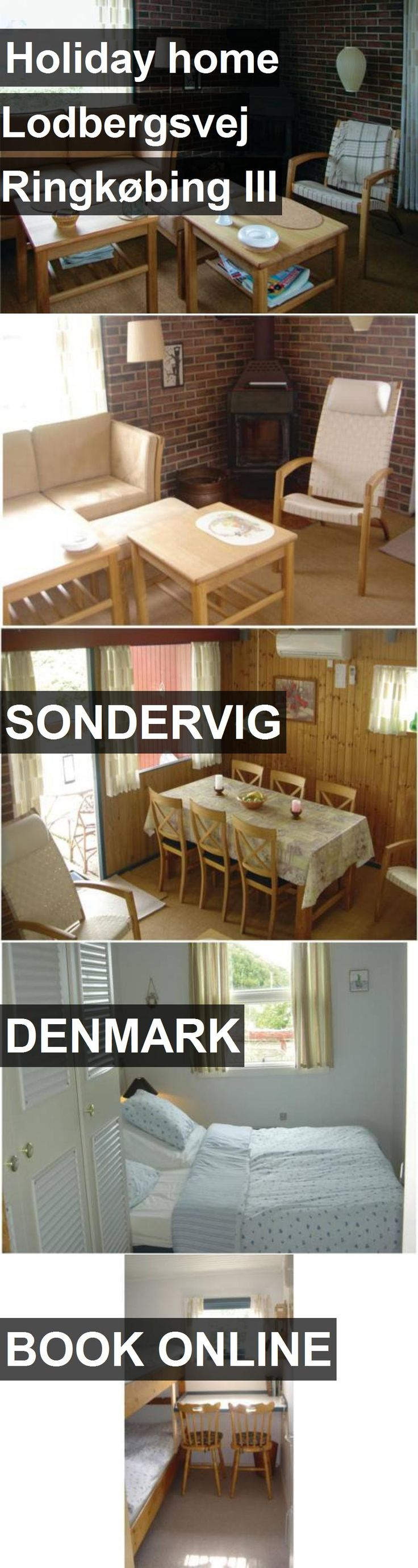 Hotel Holiday home Lodbergsvej Ringkøbing III in Sondervig, Denmark. For more information, photos, reviews and best prices please follow the link. #Denmark #Sondervig #travel #vacation #hotel