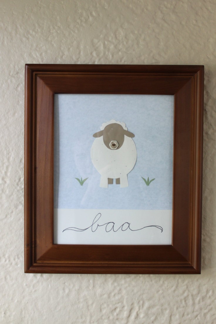 Baby bedding lamb theme sweet pea lamb baby bedding and nursery -  Chrissy Gilmore Made This Amazing Sheep Artwork For The Baby S Nursery