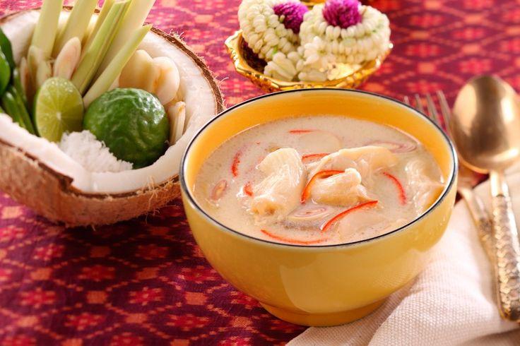 Tom Kha soep Een fris-zure kokossoep, heerlijk authentiek Thais
