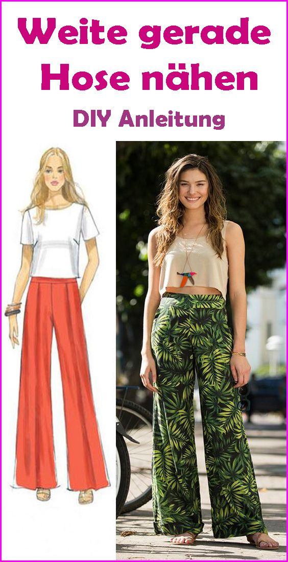 Wide Straight Pants for Women Sewing – Free DIY Instructions