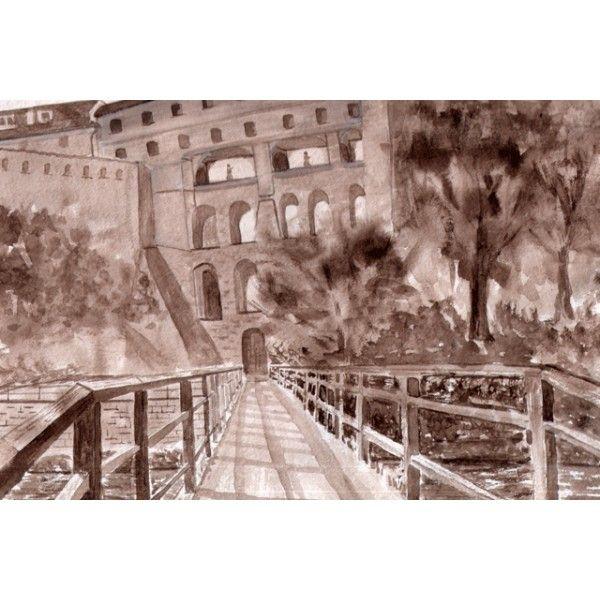 Cesky Krumlov castle - Postcards, Watercolor