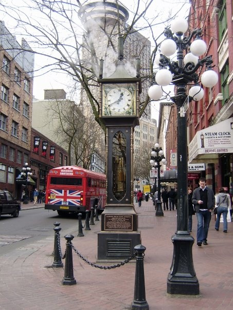 Steam Clock, Gastown, Vancouver, BC - photograph taken by Rosalia Marie
