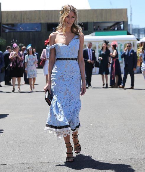 Fashion - Jennifer Hawkins - Melbourne Spring Racing - Sunday Club