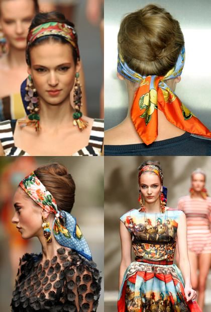 Head Scarves Dolce & Gabbana Milan Fashion Week Spring – Summer 2013 We're loving this simple yet effective way to dress up your do! World renowned…